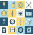Car parts icons flat line vector image