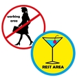 entrance and access is denied to women Rest area vector image