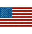American flag background made with embroidery vector image