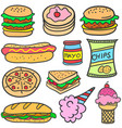 doodle of food style design vector image