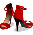fashion woman red shoes vector image vector image