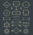 Line Badges Emblems and Design Elements vector image