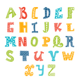 Cute alphabet isolated on white background Letters vector image