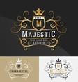 Premium Royal Crest Logo Design vector image