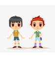Cute Cartoon kids isolated Boy vector image