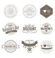 Badges Valentine Vintage vector image