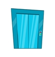 Elevator with closed door icon cartoon style vector image