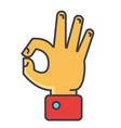 hand gesture symbolizing ok agreement concept vector image