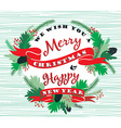 Merry Chrismas background with Typography vector image