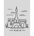 paris and landmark vector image