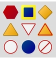 Road signs pack vector image