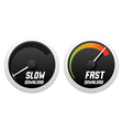 Speedometers with slow and fast download vector image