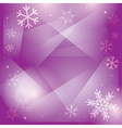 violet christmas background with white snowflakes vector image