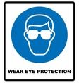 Wear eye protection vector image
