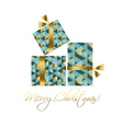 concept xmas gift box  elegant abstract geometry vector image vector image
