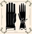 vintage gloves vector image vector image