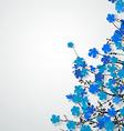 Beautiful floral postcard vector image