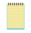 notepad notebook vector image vector image