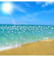 Sea beach and sun vector image vector image