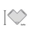 I love selfi Phone as a symbol of heart I vector image