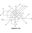 baghdad subway vector image