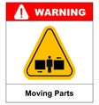 Set of danger Moving Parts signs vector image