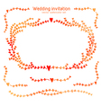 Set of hand drawn watercolor elements for wedding vector image