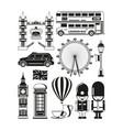 silhouette of london landmarks vector image