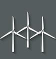 wind turbine symbol vector image