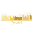 Istanbul City skyline golden silhouette vector image