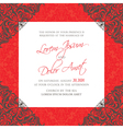 red vintage wedding invitation card vector image