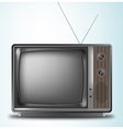 Old retro television on a blue background vector image vector image