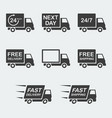 delivery icon set vector image