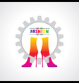 fashion background with creative shoe vector image