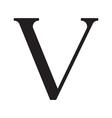 The vintage style letter V vector image
