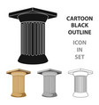 antique column icon in cartoon style isolated on vector image