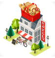 Bakery Building Tint Icon Isometric1 vector image