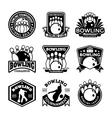 Bowling Badges vector image