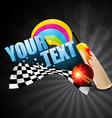 cricket theme background vector image