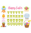 easter party decoration elements eggs vector image