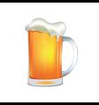 Light beer mug vector image