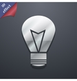 Light lamp icon symbol 3D style Trendy modern vector image
