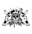 skulls bull and skull Indian vector image