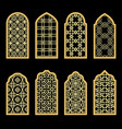 traditional gold arabic window vector image