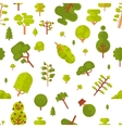 seamless pattern with green trees and vector image