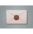 mail envelope or letter sealed with wax seal stamp vector image