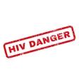 HIV Danger Rubber Stamp vector image