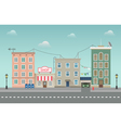 Day city urban landscape Small town in flat style vector image