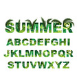 summer green alphabet capital tropical vector image vector image