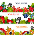 banners set of wild berries and ruits vector image vector image